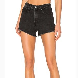 Rag & Bone Washed Black High Waisted Shorts 29